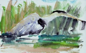 Heron stalking the marsh edge
