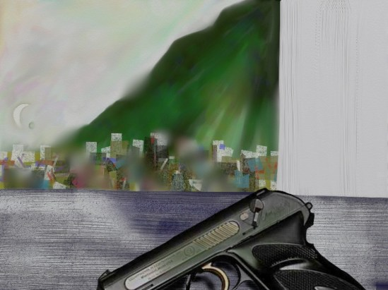 Landscape with gun 13