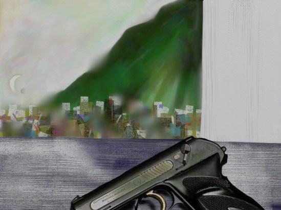 Landscape with gun 13