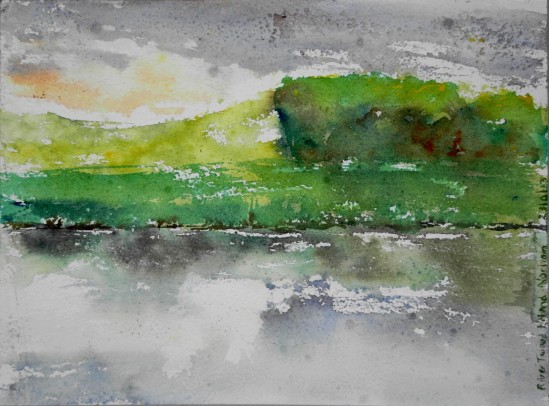 20130623 River Tweed in rain