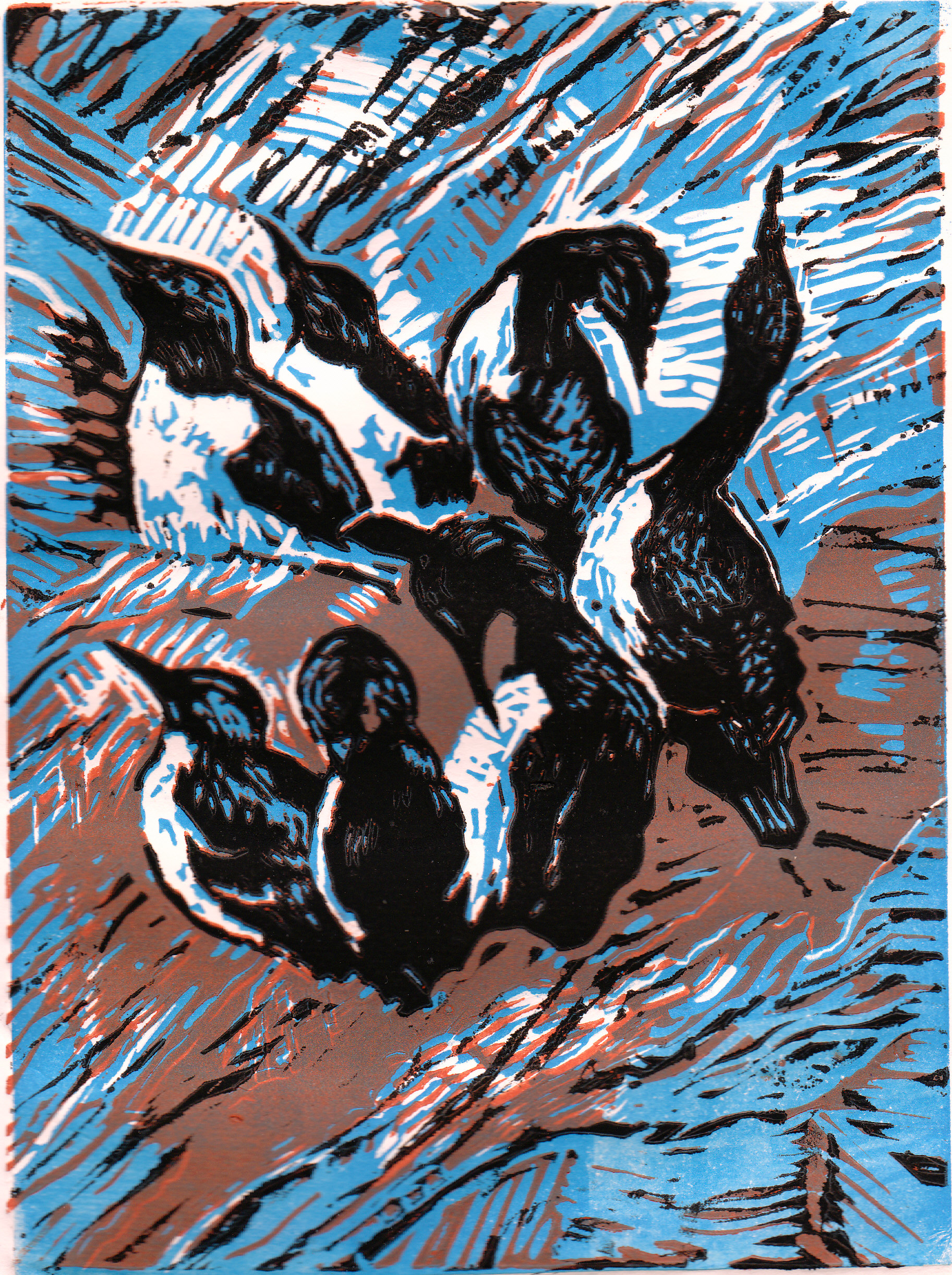 20131103 Printmaking guillemots (2)