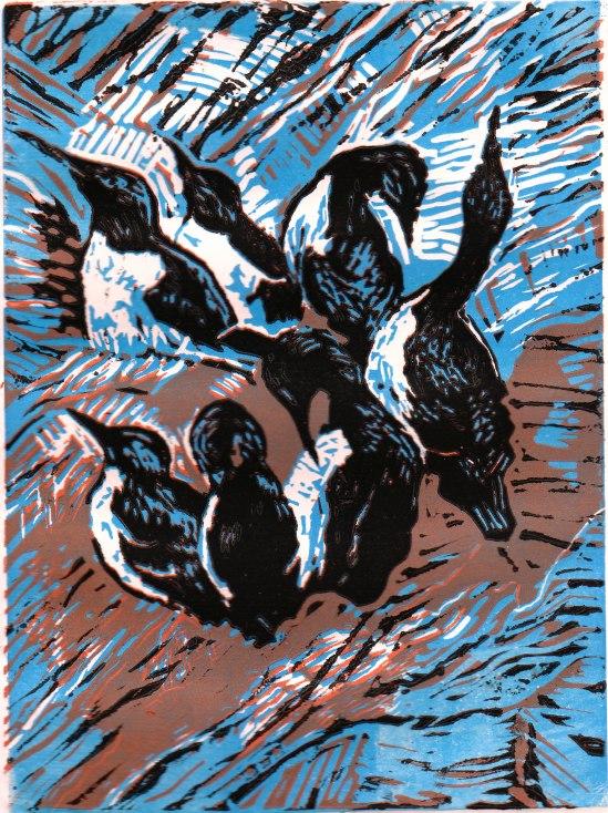 20131103 Printmaking guillemots (2)
