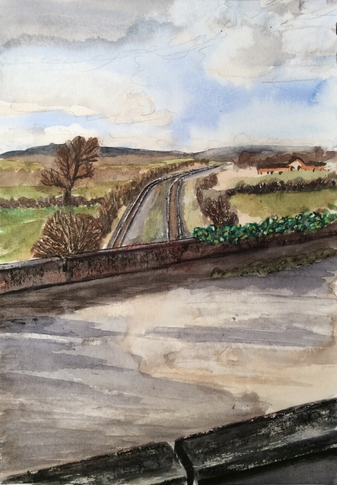 2016-03-31 Aquaduct across railway Wootton Wawen